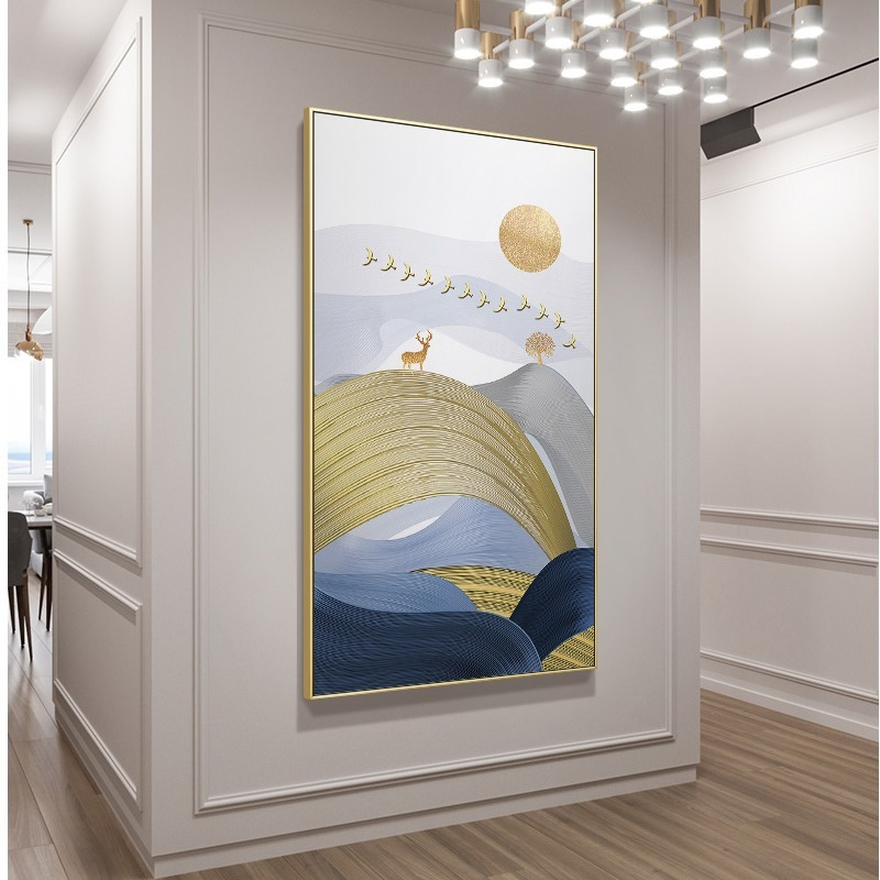 北欧现代玄关麋鹿 客厅卧室餐厅高清装饰画芯素材打印图片H11560