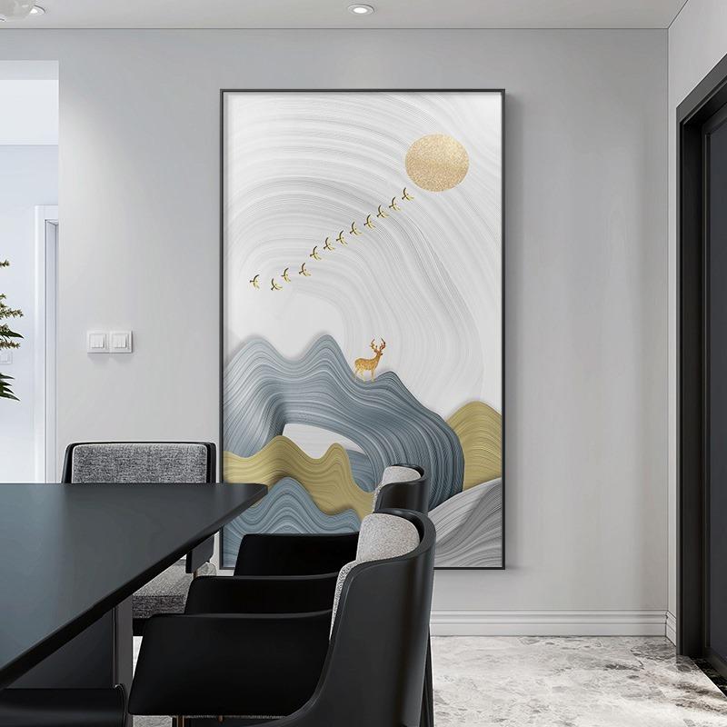 北欧现代玄关麋鹿 客厅卧室餐厅高清装饰画芯素材打印图片H11561
